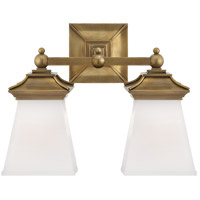 Visual Comfort CHD1516AB-WG E. F. Chapman Chinoiserie 2 Light 13 inch Antique-Burnished Brass Bath Wall Light