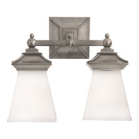 Visual Comfort E.F. Chapman Chinoiserie 2 Light Bath Wall Light in Antique Nickel CHD1516AN-WG