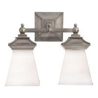 Visual Comfort CHD1516AN-WG E. F. Chapman Chinoiserie 2 Light 13 inch Antique Nickel Bath Wall Light