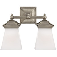 Visual Comfort CHD1516AN-WG E. F. Chapman Chinoiserie 2 Light 13 inch Antique Nickel Bath Wall Light