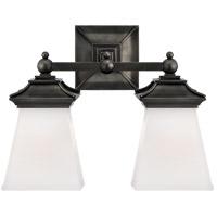 Visual Comfort CHD1516BZ-WG E. F. Chapman Chinoiserie 2 Light 13 inch Bronze Bath Wall Light