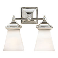 Visual Comfort E.F. Chapman Chinoiserie 2 Light Bath Wall Light in Polished Nickel CHD1516PN-WG