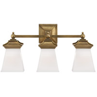 Visual Comfort CHD1517AB-WG E. F. Chapman Chinoiserie 3 Light 21 inch Antique-Burnished Brass Bath Wall Light