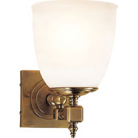 Visual Comfort E.F. Chapman Essex 1 Light Bath Wall Light in Antique-Burnished Brass CHD1531AB-FG