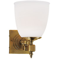 Visual Comfort CHD1531AB-FG E. F. Chapman Essex 1 Light 6 inch Antique-Burnished Brass Bath Wall Light