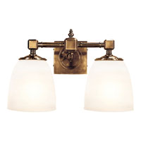 E.F. Chapman Essex 2 Light 15 inch Antique-Burnished Brass Bath Wall Light in Antique Burnished Brass