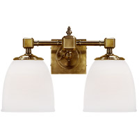 Visual Comfort CHD1532AB-FG E. F. Chapman Essex 2 Light 15 inch Antique-Burnished Brass Bath Wall Light