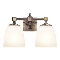 Visual Comfort E.F. Chapman Essex 2 Light Bath Wall Light in Antique Nickel CHD1532AN-FG