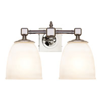 Visual Comfort E.F. Chapman Essex 2 Light Bath Wall Light in Polished Nickel CHD1532PN-FG