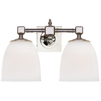 Visual Comfort CHD1532PN-FG E. F. Chapman Essex 2 Light 15 inch Polished Nickel Bath Wall Light