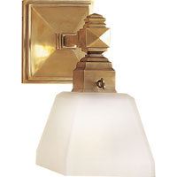 Visual Comfort E.F. Chapman Normandie 1 Light Bath Wall Light in Antique-Burnished Brass CHD1541AB-FG