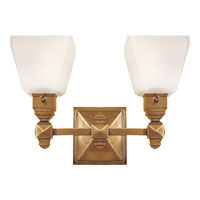 Visual Comfort E.F. Chapman Normandie 2 Light Bath Wall Light in Antique-Burnished Brass CHD1542AB-FG