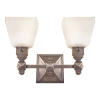 Visual Comfort E.F. Chapman Normandie 2 Light Bath Wall Light in Antique Nickel CHD1542AN-FG