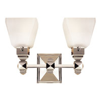 Visual Comfort E.F. Chapman Normandie 2 Light Bath Wall Light in Polished Nickel CHD1542PN-FG