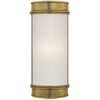 E. F. Chapman Oxford 1 Light 3 inch Antique-Burnished Brass Bath Wall Light in Antique Burnished Brass, 8.5 in. H