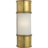 Visual Comfort E.F. Chapman Oxford 1 Light Bath Wall Light in Antique-Burnished Brass CHD1551AB-FG