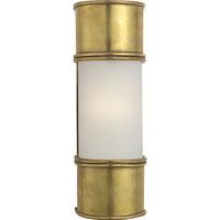Visual Comfort CHD1551AB-FG E. F. Chapman Oxford 1 Light 4 inch Antique-Burnished Brass Bath Wall Light in Antique Burnished Brass, 12 in. H