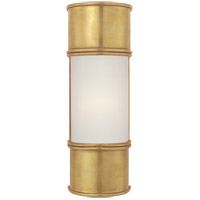 Visual Comfort CHD1551AB-FG E. F. Chapman Oxford 1 Light 4 inch Antique-Burnished Brass Bath Wall Light in 12 in. H