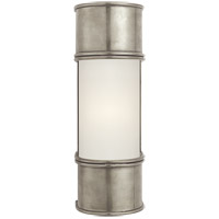 E. F. Chapman Oxford 1 Light 4 inch Antique Nickel Bath Wall Light in 12 in. H