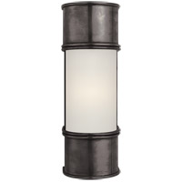 E. F. Chapman Oxford 1 Light 4 inch Bronze Bath Wall Light in 12 in. H