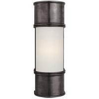 Visual Comfort CHD1551BZ-FG E. F. Chapman Oxford 1 Light 4 inch Bronze Bath Wall Light in 12 in. H