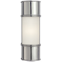 Visual Comfort CHD1551CH-FG E. F. Chapman Oxford 1 Light 4 inch Chrome Bath Wall Light in 12 in. H