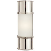 E. F. Chapman Oxford 1 Light 4 inch Polished Nickel Bath Wall Light in 12 in. H