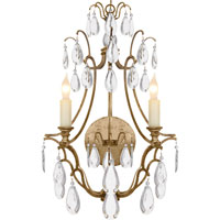 Visual Comfort E.F. Chapman Penhurst 2 Light Decorative Wall Light in Gilded Iron with Wax CHD1555GI-CG
