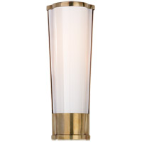 E. F. Chapman Carew 1 Light 5 inch Antique Burnished Brass Bath Sconce Wall Light, E.F. Chapman, Small, White Glass