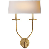 Visual Comfort CHD1612AB-NP E. F. Chapman Symmetric Twist 2 Light 14 inch Antique-Burnished Brass Decorative Wall Light