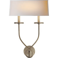 Visual Comfort E.F. Chapman Symmetric Twist 2 Light Decorative Wall Light in Antique Nickel CHD1612AN-NP