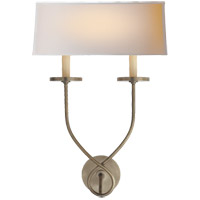 Visual Comfort CHD1612AN-NP E. F. Chapman Symmetric Twist 2 Light 14 inch Antique Nickel Decorative Wall Light