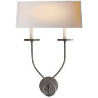 Visual Comfort CHD1612BZ-NP E. F. Chapman Symmetric Twist 2 Light 14 inch Bronze Decorative Wall Light