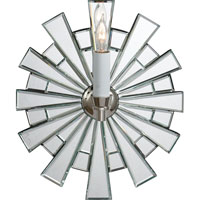 Visual Comfort E.F. Chapman Starburst 1 Light Decorative Wall Light in Polished Nickel CHD1620PN