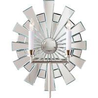 Visual Comfort E.F. Chapman Starburst 2 Light Decorative Wall Light in Polished Nickel CHD1622PN