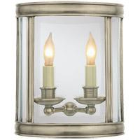 Visual Comfort CHD2000AN E. F. Chapman Edwardian 2 Light 10 inch Antique Nickel Wall Lantern