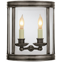 Visual Comfort E.F. Chapman Edwardian 2 Light Wall Lantern in Bronze with Wax CHD2000BZ