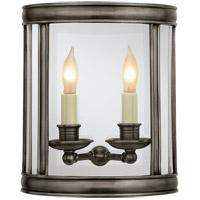 Visual Comfort CHD2000BZ E. F. Chapman Edwardian 2 Light 10 inch Bronze Wall Lantern