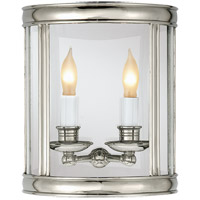 Visual Comfort E.F. Chapman Edwardian 2 Light Wall Lantern in Polished Nickel CHD2000PN