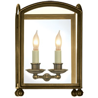 Visual Comfort E.F. Chapman Arch Top 2 Light Wall Lantern in Antique-Burnished Brass CHD2011AB