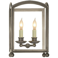 Visual Comfort E.F. Chapman Arch Top 2 Light Wall Lantern in Antique Nickel CHD2011AN