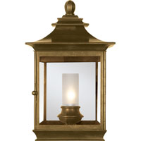 Visual Comfort E.F. Chapman Regency 1 Light Wall Lantern in Antique-Burnished Brass CHD2031AB