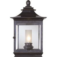Visual Comfort E.F. Chapman Regency 1 Light Wall Lantern in Bronze with Wax CHD2031BZ