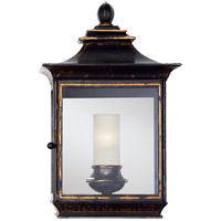 E. F. Chapman Regency 1 Light 16 inch Old Black Tole Wall Lantern