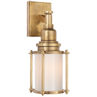 Visual Comfort CHD2050AB-WG E. F. Chapman Stanway 1 Light 4 inch Antique-Burnished Brass Bath Wall Light in White Glass