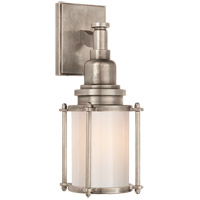 Visual Comfort CHD2050AN-WG E. F. Chapman Stanway 1 Light 4 inch Antique Nickel Bath Wall Light in White Glass