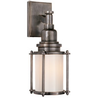 Visual Comfort CHD2050BZ-WG E. F. Chapman Stanway 1 Light 4 inch Bronze Bath Wall Light in White Glass