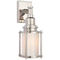 Visual Comfort CHD2050PN-WG E. F. Chapman Stanway 1 Light 4 inch Polished Nickel Bath Wall Light in White Glass