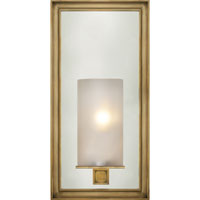 E.F. Chapman Lund 1 Light 6 inch Antique-Burnished Brass Bath Wall Light in Antique Burnished Brass, Frosted Glass