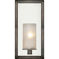 E.F. Chapman Lund 1 Light 6 inch Bronze Bath Wall Light in Frosted Glass